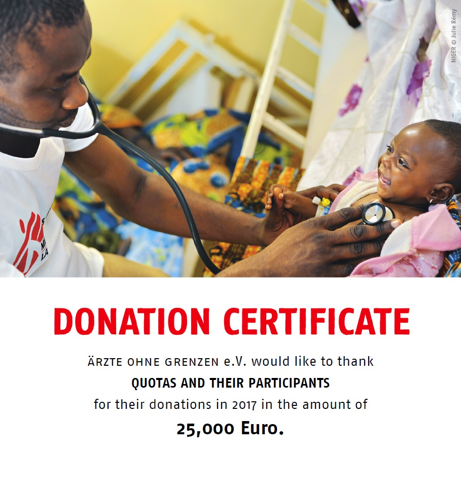 donation certificate - doctors without borders