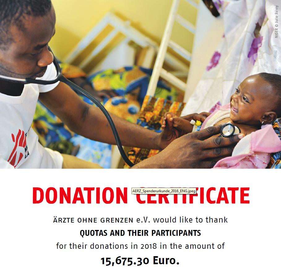 MSF Certificate 2018